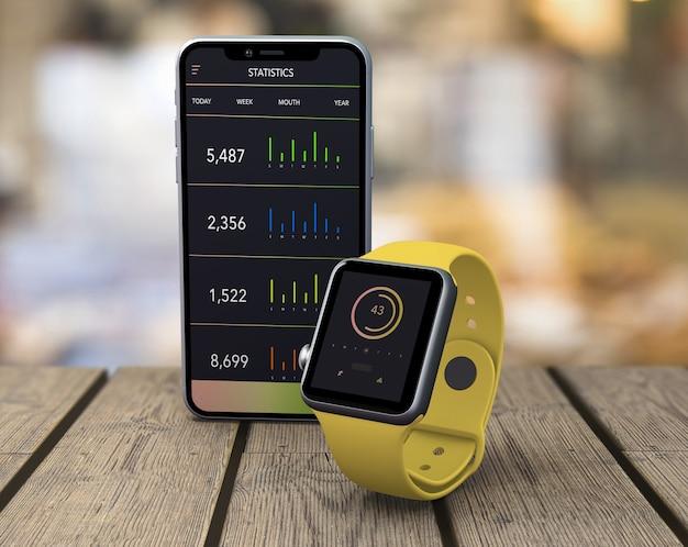 Smartwatch i prezentacja smartfona