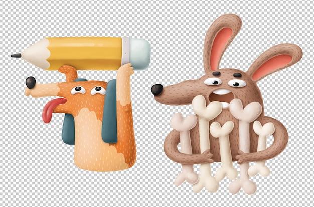 Śmieszne kreskówka psy