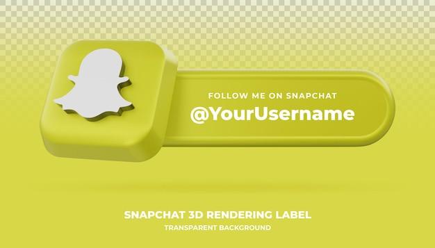 Snapchat 3d renderowania baner na białym tle