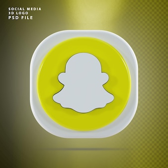 Snapchat icon 3d renderowany kształt
