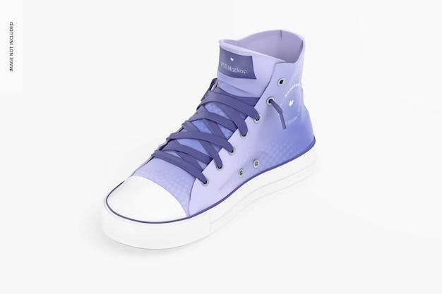 Sneaker makieta, izometryczny widok z prawej strony