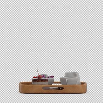 Śniadanie 3d render