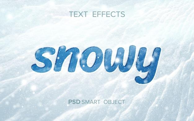 Śnieżny Efekt Tekstowy Darmowe Psd