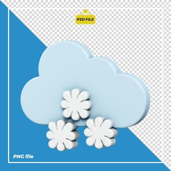 Śnieżny projekt ikony 3d