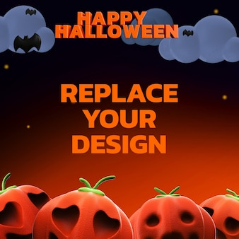 Socail media mockup design renderowanie 3d