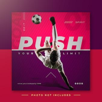 Soccer sports instagram post