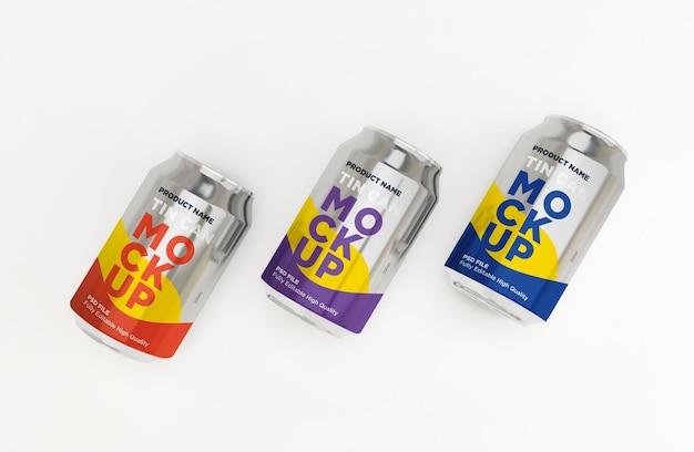 Soda aluminiowa może pić napój makieta psd
