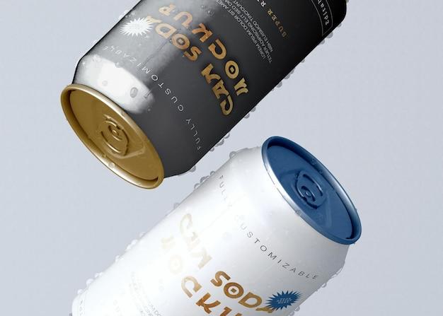 Soda can set mockup