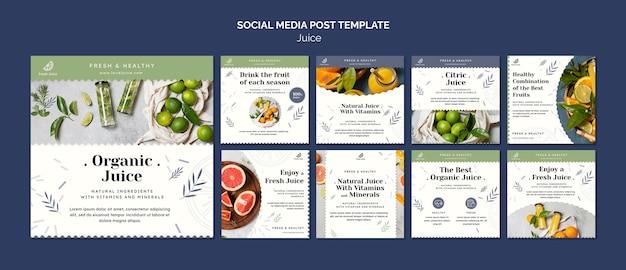 Sok koncepcja szablon postu w mediach społecznościowych