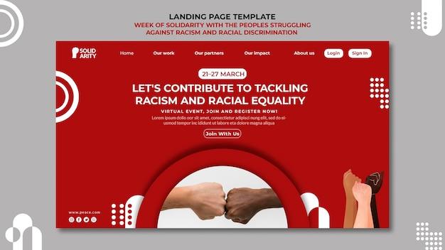 Solidarność dla osób walczących z rasizmem landing page
