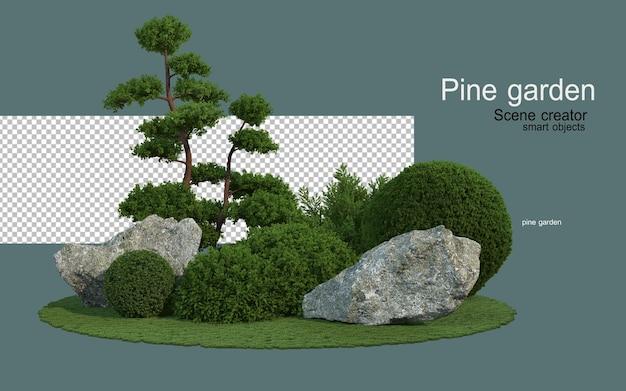 Sosny i formacje skalne o różnych kształtach