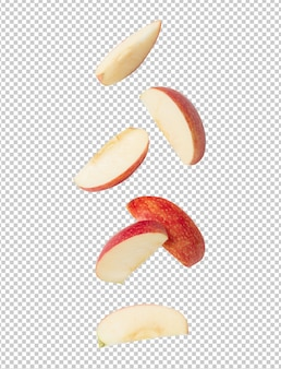 Spadające plasterek dojrzałe czerwone jabłko dla swojego projektu
