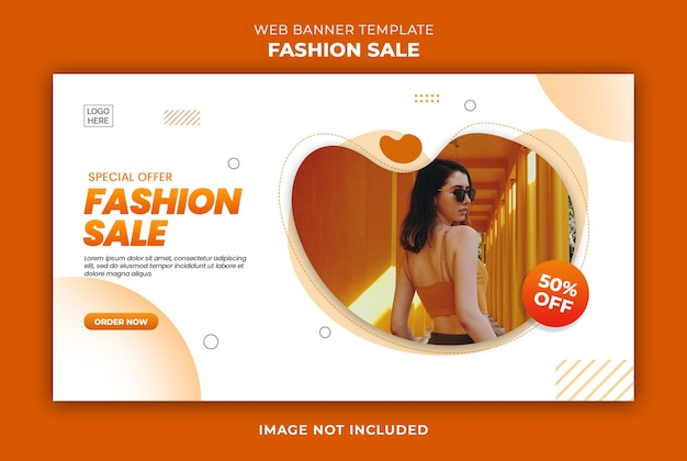 Specjalna oferta szablonu banera internetowego kolekcji mody