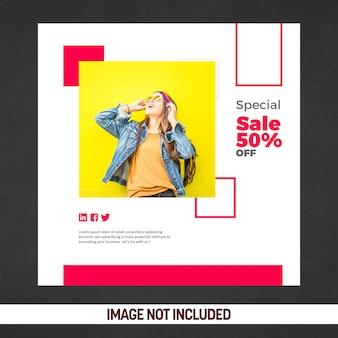 Specjalna sprzedaż banerów społecznościowych