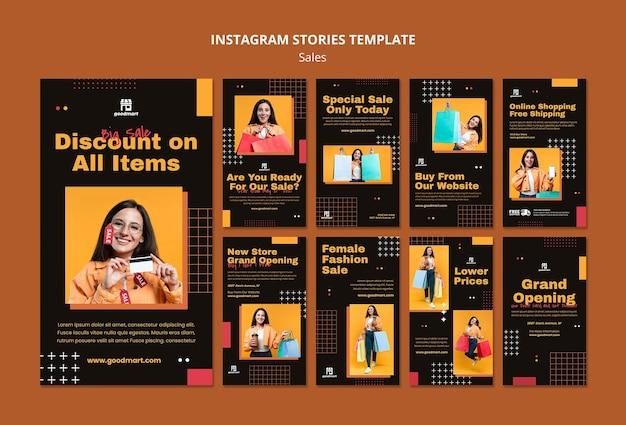 Specjalne historie sprzedażowe na instagramie