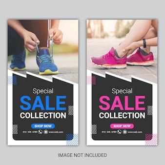 Specjalny baner kolekcji sprzedaży