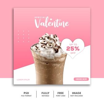 Specjalny post valentine dla mediów społecznościowych