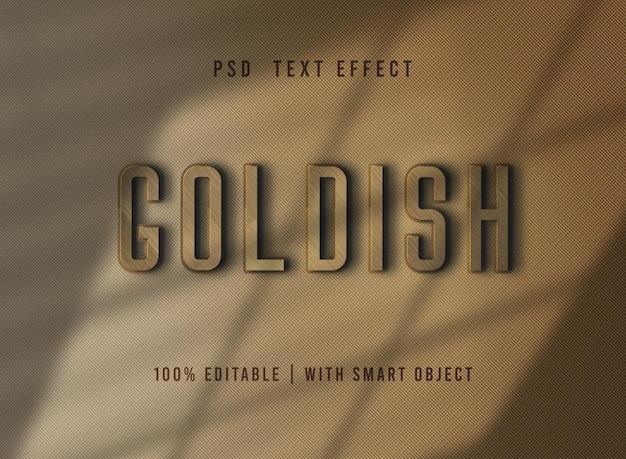 Specjalny projekt z efektem tekstu w kolorze złotym