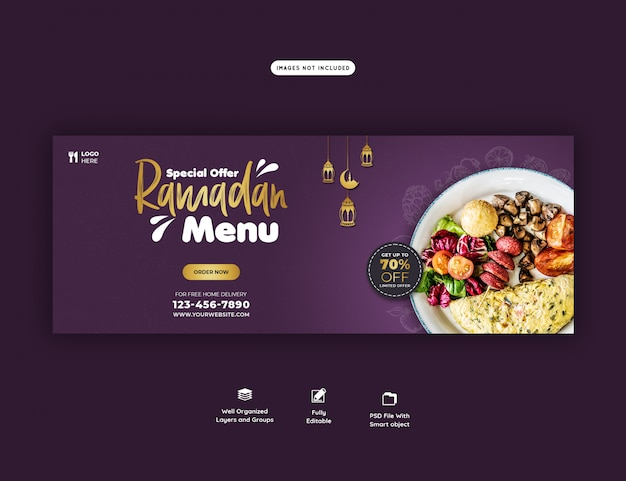 Specjalny szablon transparent żywności ramadan