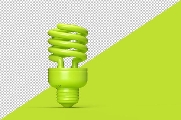 Spiralna lampa fluorescencyjna na białym tle projekt