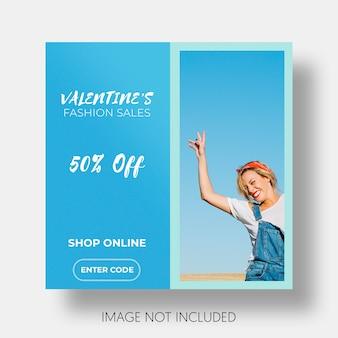 Społecznościowy szablon sprzedaży Walentynki