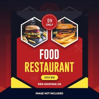 Społecznościowy instagram post banner żywności
