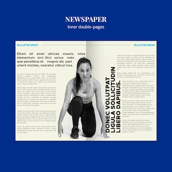 Spor wewnętrzne podwójne strony gazety