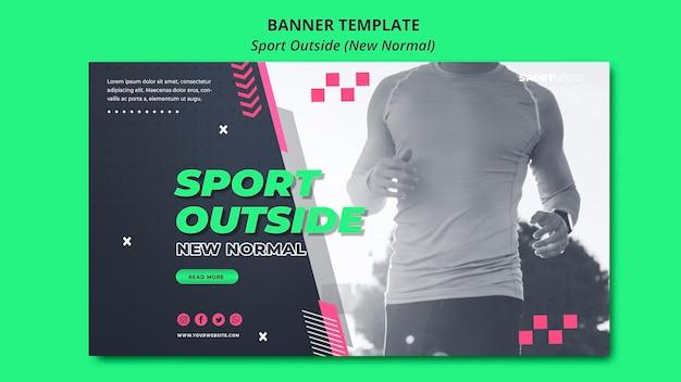 Sport na zewnątrz koncepcja poziomy baner