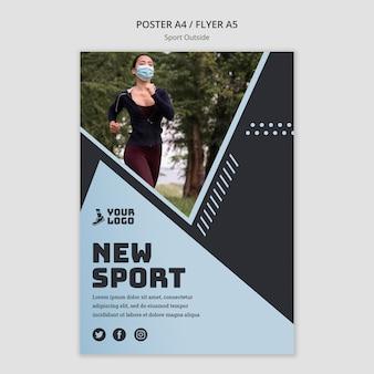 Sport poza motywem plakatu