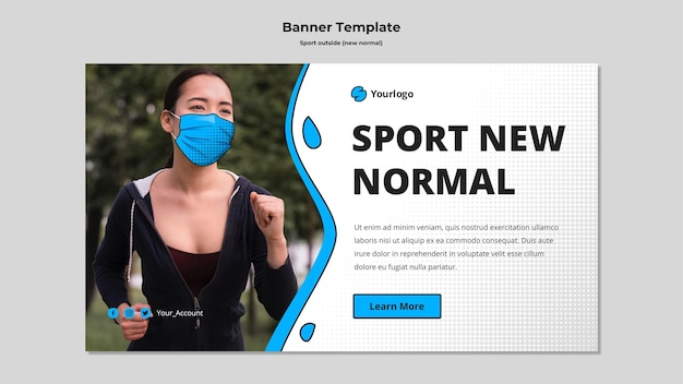 Sport poza szablonem transparentu
