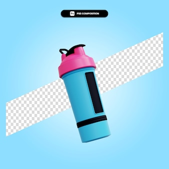 Sportowa butelka wody 3d render ilustracja na białym tle