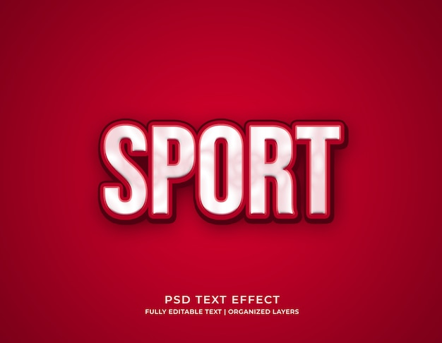 Sportowy edytowalny szablon efektu tekstu