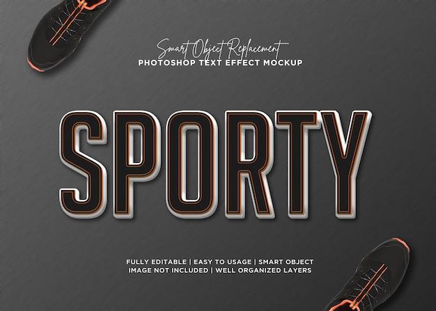 Sportowy efekt tekstowy w stylu 3d