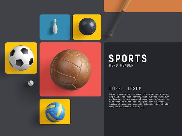 Sports hero / header scene generator