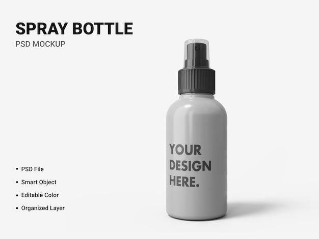 Spray butelka makieta projekt na białym tle
