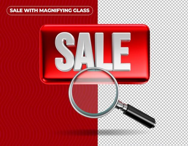Sprzedam szkło powiększające na czerwonym tle