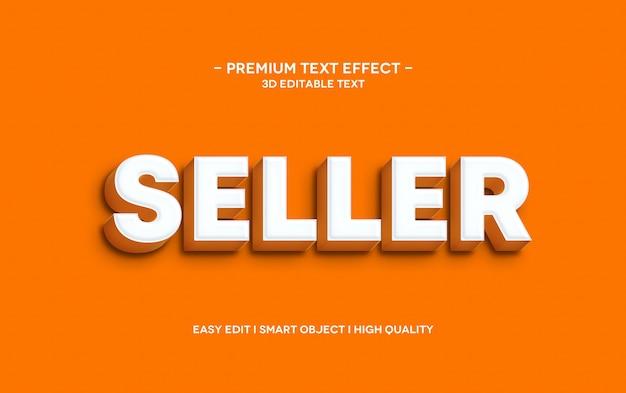 Sprzedawca 3d szablon efektu stylu tekstu