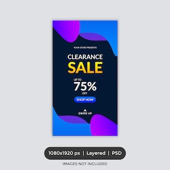 Sprzedaż banner instagram story