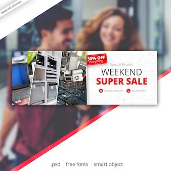 Sprzedaż facebook cover web banner
