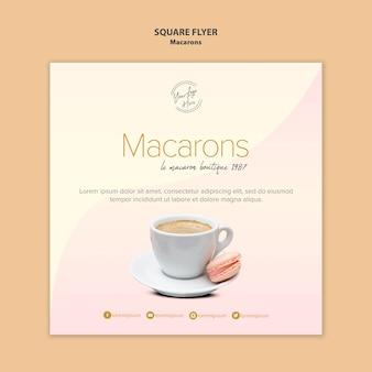 Sprzedaż kwadratowych ulotek macarons