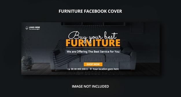 Sprzedaż mebli facebook szablon transparent okładka