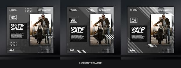 Sprzedaż modna posty na instagramie lub plac