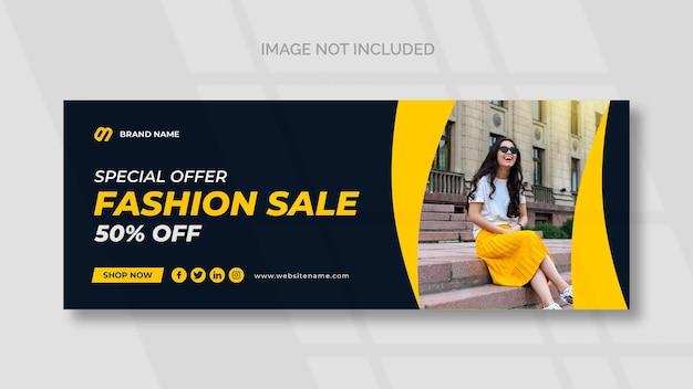 Sprzedaż mody na facebooku szablon banera mediów społecznościowych