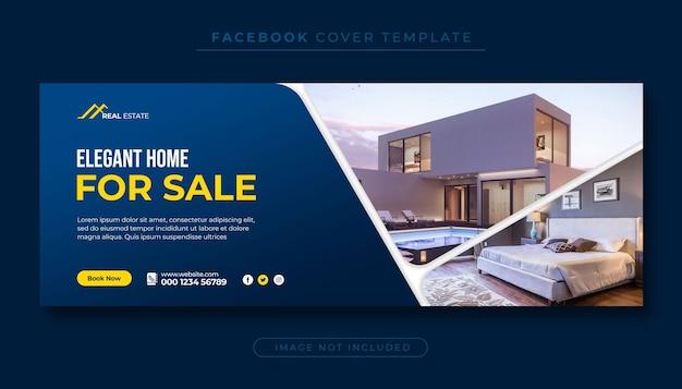 Sprzedaż nieruchomości domu facebook cove zdjęcie i baner internetowy