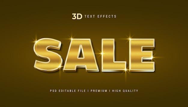 Sprzedaż szablonu efektu stylu tekstu 3d