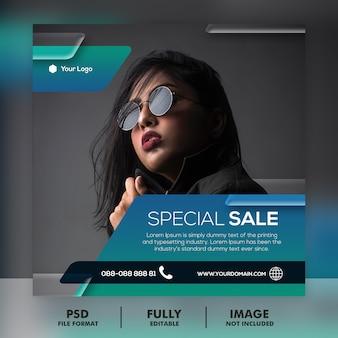 Sprzedaż szablonu postu instagram w mediach społecznościowych