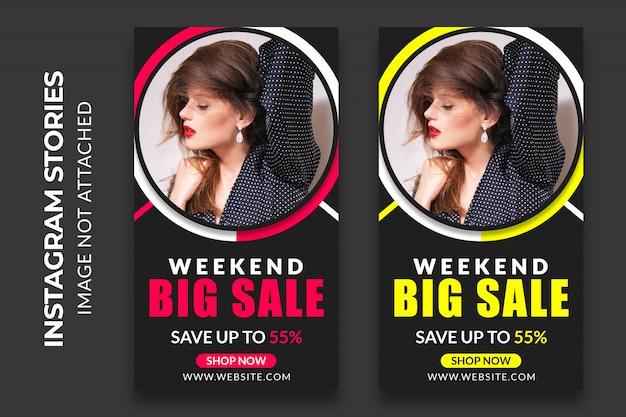 Sprzedaż w mediach społecznościowych na weekend