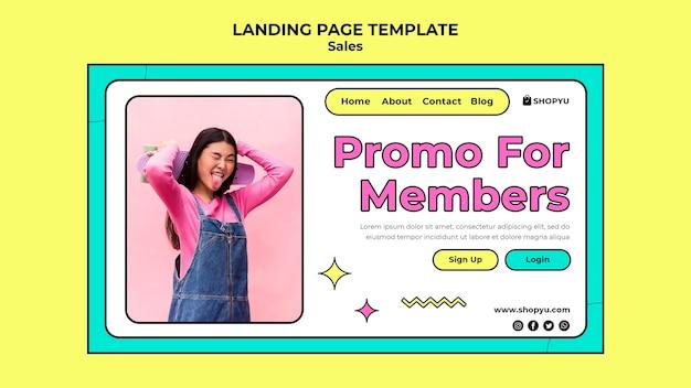 Sprzedaż ze zniżką na landing page