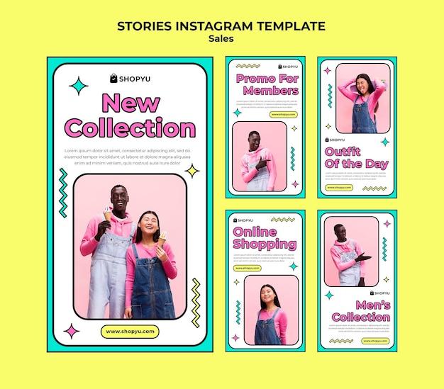 Sprzedaż ze zniżkami na historie na instagramie