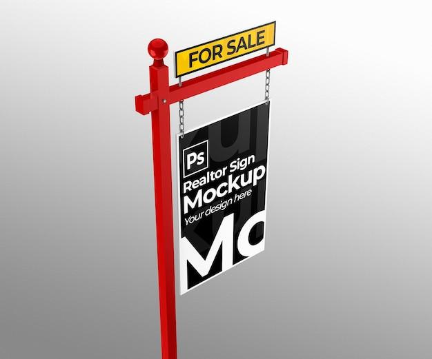 Sprzedaż znak nieruchomości makieta do prezentacji lub brandingu